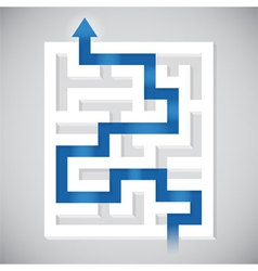 Finding Path vector image