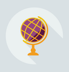 flat modern design with shadow icon globe vector image