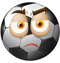 Football with sad face vector
