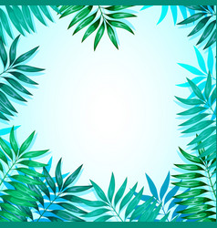 Frame colorful tropical leaves concept vector