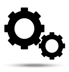 Gears and cog in black vector