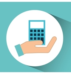 hand calculator finance icon vector image