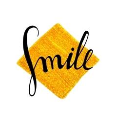 Handwritten inscription Smile vector image