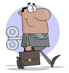 Happy African American Businessman vector image