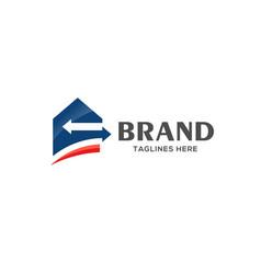 Home loan logo real estate logo vector
