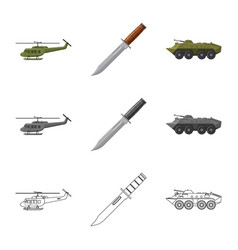 Isolated object of weapon and gun sign collection vector