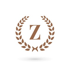 Letter z laurel wreath logo icon design template vector