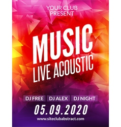 Live music acoustic poster design temple show vector