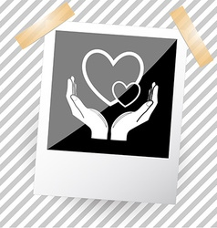 love in hands vector image