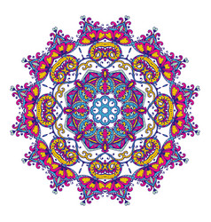 Mandala pattern of henna floral elements vector