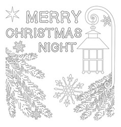 Merry christmas night poster with lonely star vector