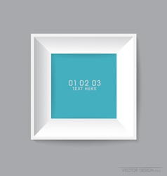 Modern frame on the wall vector image
