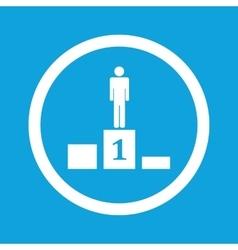 Pedestal sign icon vector