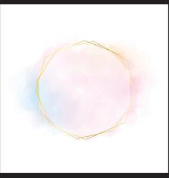 pink blue and orange watercolor circle splash vector image