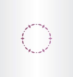 purple circle frame design vector image