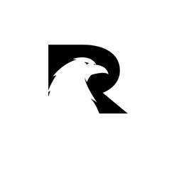 r bird eagle logo designs simple modern vector image