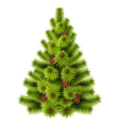 realistic christmas tree for xmas decor vector image