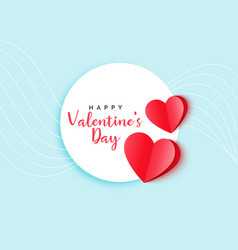red origami hearts elegant valentines day vector image