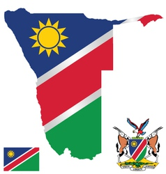 Republic of Namibia Flag vector image