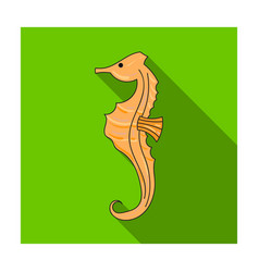 Seahorse icon in flat style isolated on white vector