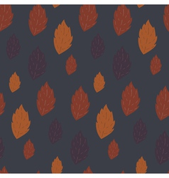 Seamless autumn pattern with falling leaves vector image