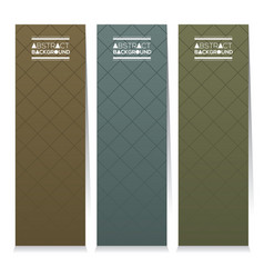 Set of three graphic vertical banners vector