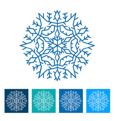 snowflake new year icon vector image