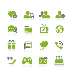 social communications icons natura series vector image