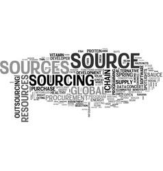 Source word cloud concept vector