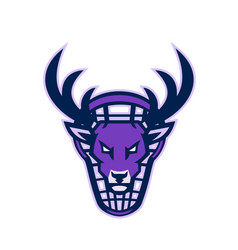 stag lacrosse mascot vector image
