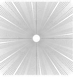 sunburst background thin radial lines vector image