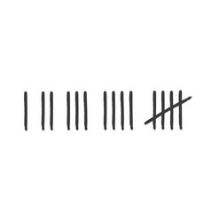 tally marks prison wall set vector image