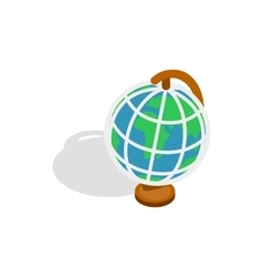 Terrestrial globe icon isometric 3d style vector image