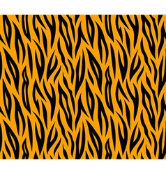 Tiger skin seamless repeated texture Orange and vector