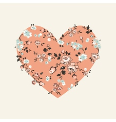 Vintage Floral Heart - for Valentines Day vector