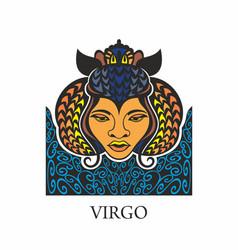 virgo horoscope zodiac sign vector image