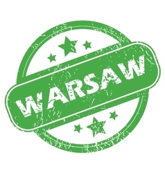 Warsaw green stamp vector
