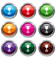 winner cup set 9 collection vector image