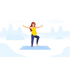 workout for pregnant concept vector image