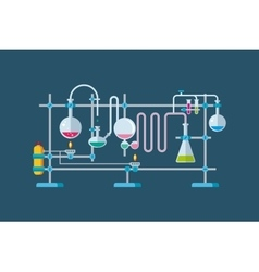 Chemical Laboratory Equipment Objects with a vector image