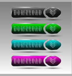 different download buttons vector image vector image