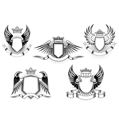 Royal coat of arms templates vector