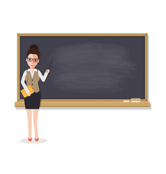 senior teacher teaching student in classroom vector image