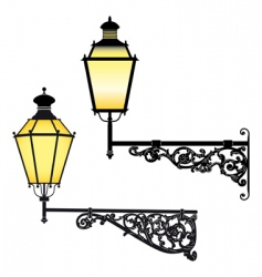 wall street lamps vector image vector image