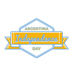 argentina independence day greeting emblem vector image
