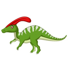 Dinosaur Parasaurolophus cartoon vector image