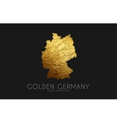 Germany map Golden Germany logo Creative Germany vector image