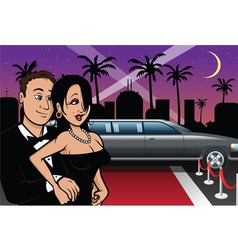 hollywood celebrities red carpet vector image