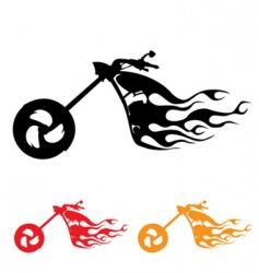 motorcycle symbol vector image vector image