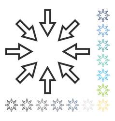 pressure arrows icon vector image